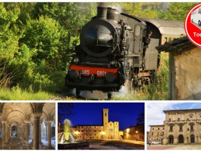 Treno a vapore e festa d'autunno