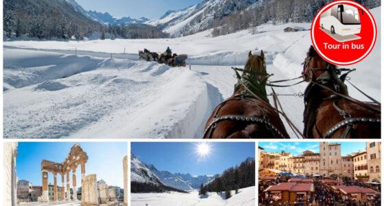 Inedito: la Val Roseg in carrozza, Trenino Rosso & i mercatini di Natale